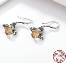 Load image into Gallery viewer, Orange bee silver necklace