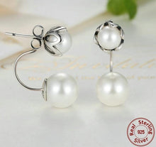 Load image into Gallery viewer, Front and back pearl earrings