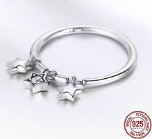 Load image into Gallery viewer, Sparkling Dangle Stars Ring
