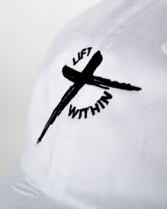 White & Blk LW Distressed Hat