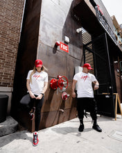 Load image into Gallery viewer, LW Red Logo White Tee