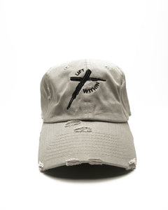 Gray & Blk LW Distressed Hats