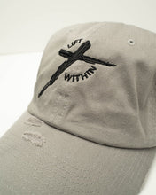 Load image into Gallery viewer, Gray & Blk LW Distressed Hats