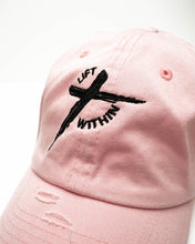 Load image into Gallery viewer, Pink & Blk LW Distressed Hats