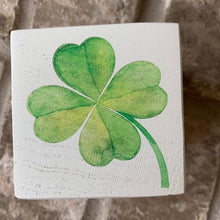 Load image into Gallery viewer, shamrock wood block