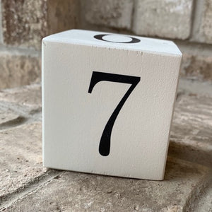 number 7 wood block