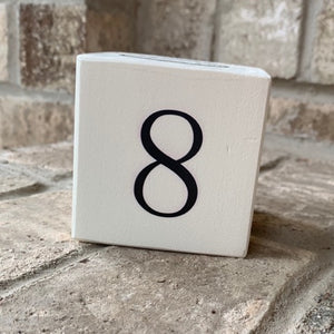 number 8 wood block