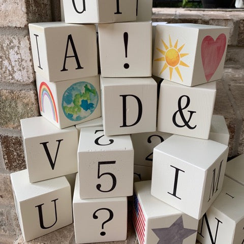 wood letter blocks bundle