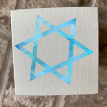 Load image into Gallery viewer, star of david wood block