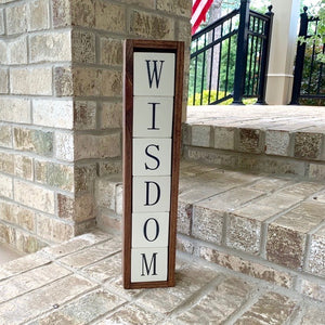 wisdom wood blocks display
