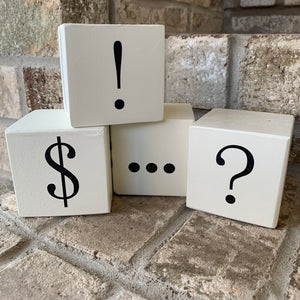 punctuation wood blocks