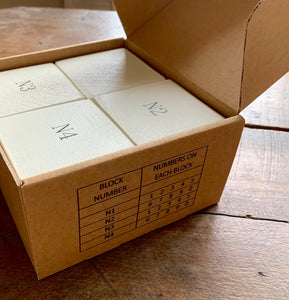 number set packaging