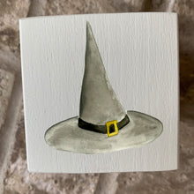 Load image into Gallery viewer, witch hat wood block