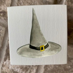 witch hat wood block