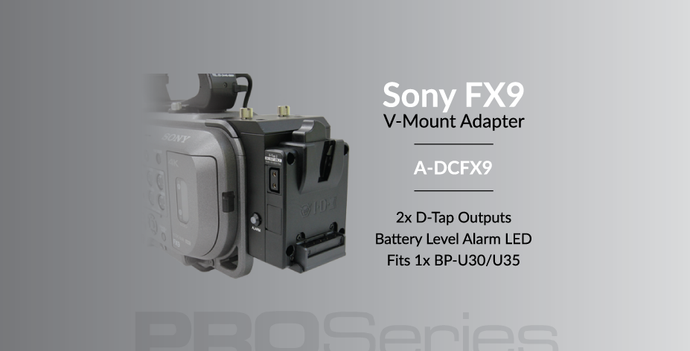 [NEW RELEASE] A-DCFX9 V-Mount Adapter for Sony FX9