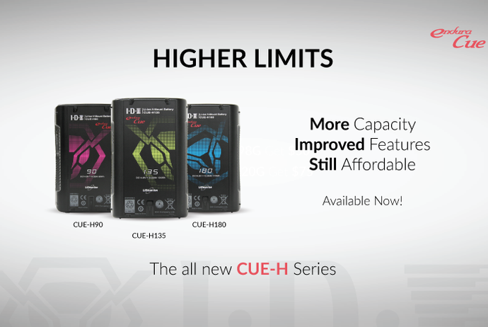 [NEW RELEASES] CUE-H Series V-Mount Batteries