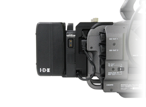 A-DCFX9 attached to Sony FX9 with Imicro-98 battery adcfx9