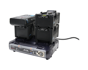vl-2000s charger stack charging duo-c98 and ipl-150 on left channel and ipl-98 and ipl-150 on right channel