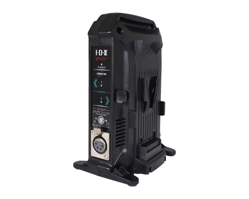 vl-2x v-mount battery charger front angled