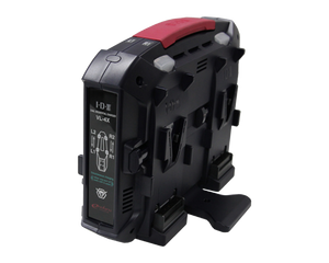 vl-4x v-mount battery charger front angled