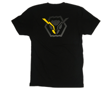 Load image into Gallery viewer, idx t-shirt 2020 back large hornet with one yellow antenna