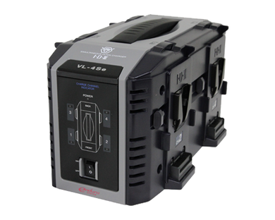 vl-4se v-mount battery charger front angled