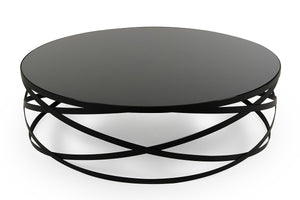 Winry Modern Black Round Coffee Table