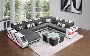 Modern sectional with led light