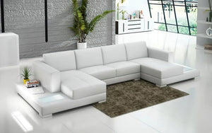 Corbin Leather Sectional with LED Light