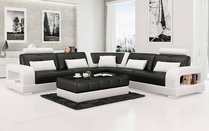 Ulubray Modern Leather Sectional