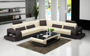 Nebula Modern Leather Sectional