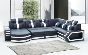 Salvie Futuristic Sectional with LED Lights | Smart Furniture