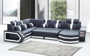 [Sold Out] Salvie Futuristic Sectional with LED Lights + with Bed Function