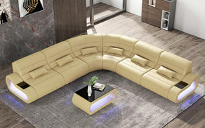 Catina Leather Corner Sectional