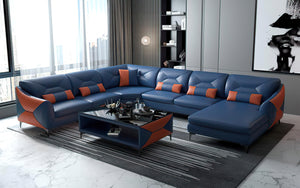Bysic Modern U Shape Leather Sectional