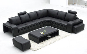 Aithen Modern Leather Sectional