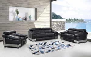 Aolon Black Sofa Set