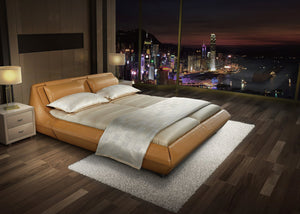 Milan Light Leather Bed