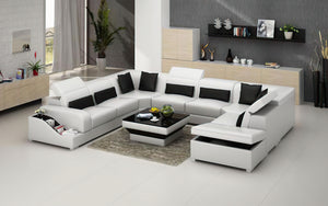 Charlotte Leather Sectional with Pop-Up Storage