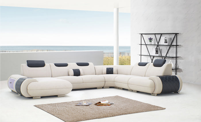 [Daily Deal] Melanee Modern Sectional with Adjustable Headrest