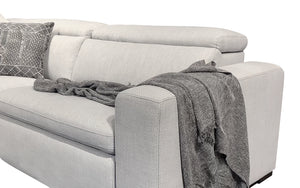 Janet Modern Fabric Sectional with Recliner