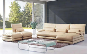 Montgomery Leather Sectional with Ottoman
