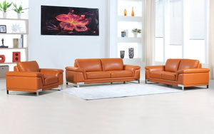 Juliny Leather Sofa Set