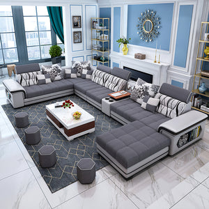 Selena Dark Grey & Light Grey Modular Tufted Sectional
