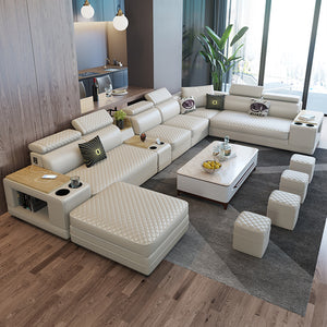 Selena Off-White Modular Tufted Sectional