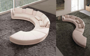Freida Curve Shape Leather Sofa
