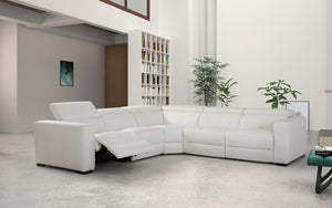 Mirage Reclining Sectional With Adjustable Headrest