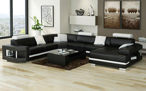 Leroy Modern U-Shape Leather Sectional