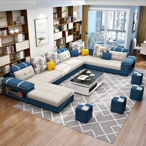 Blue Fabric Sectional
