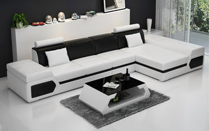 Lanz Small Modern Leather Sectional